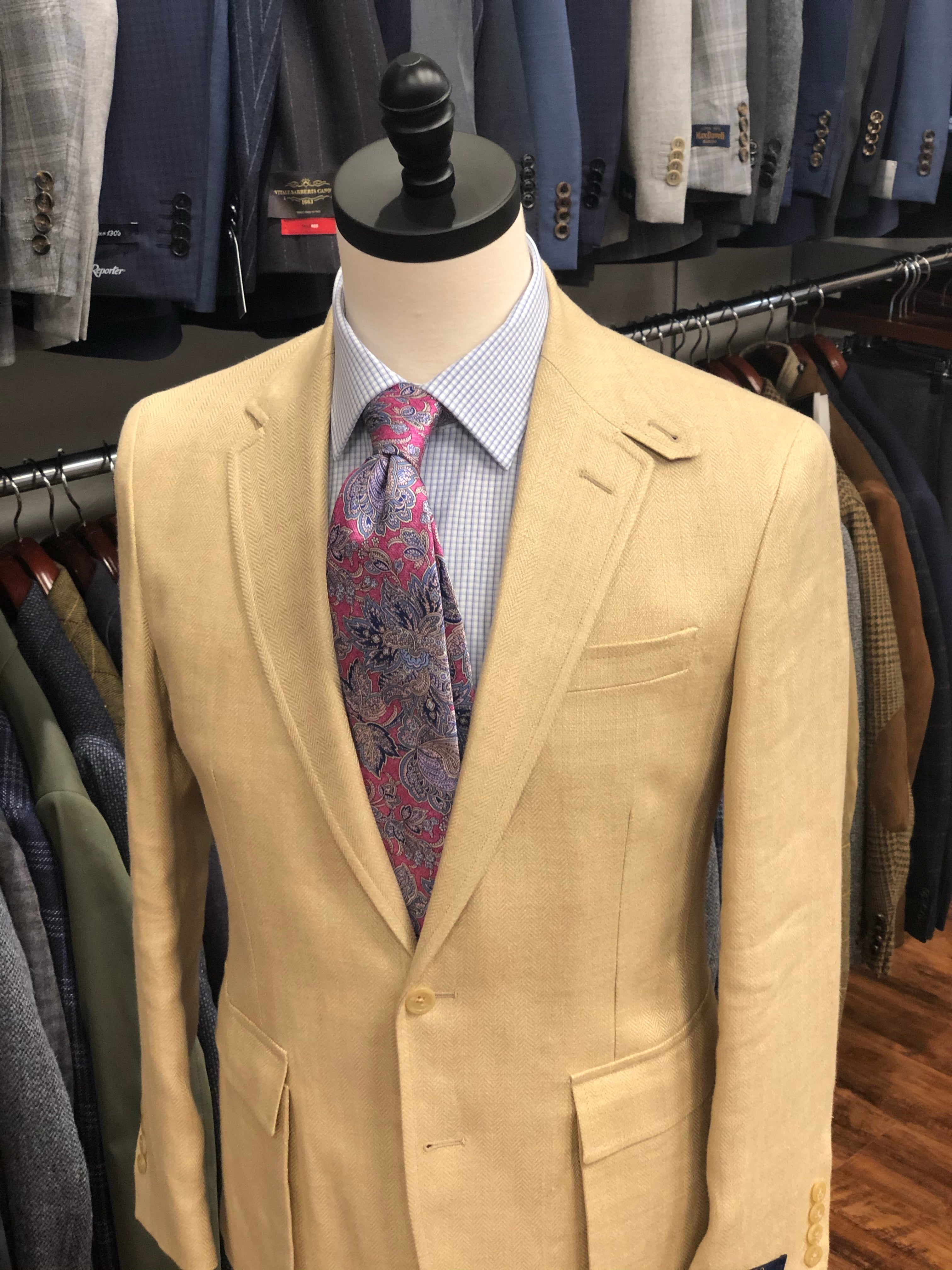 Polo by Ralph Lauren Camel Herringbone Sport Coat