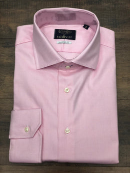 Gitman Bros. Tailored Fit Solid Dress Shirt Nail Head
