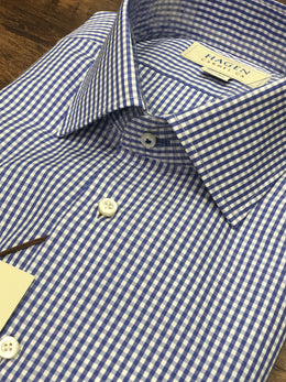 Hagen Blue Check Dress Shirt