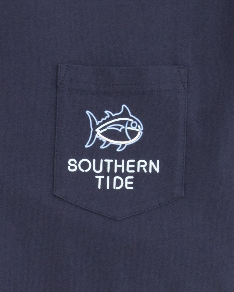 Southern Tide Ice-Cold Beer Neon Tee
