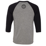 BRCC Classic Logo 3/4 Sleeve Raglan - Deep Heather/Black Sleeves