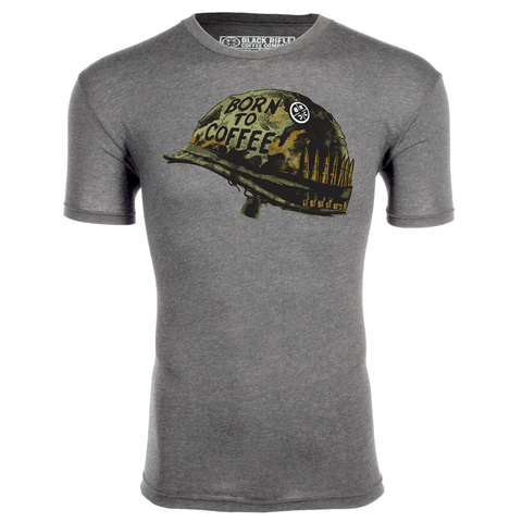Born To Coffee Shirt - Premium Heather Gray