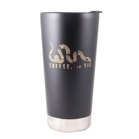 """Coffee, or Die"" Tumbler - 16 oz."