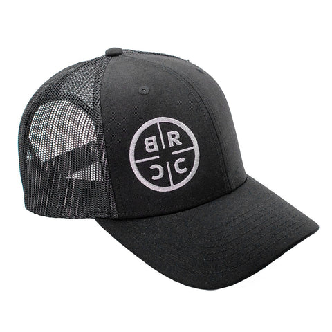 BRCC Trucker Hat - Black with Black mesh