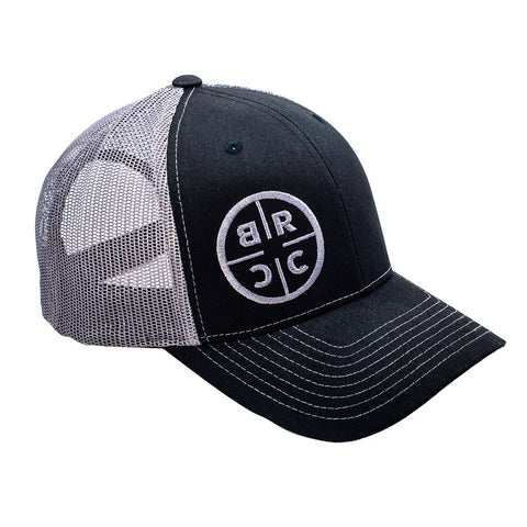 BRCC Trucker Hat - Black w/ Grey mesh