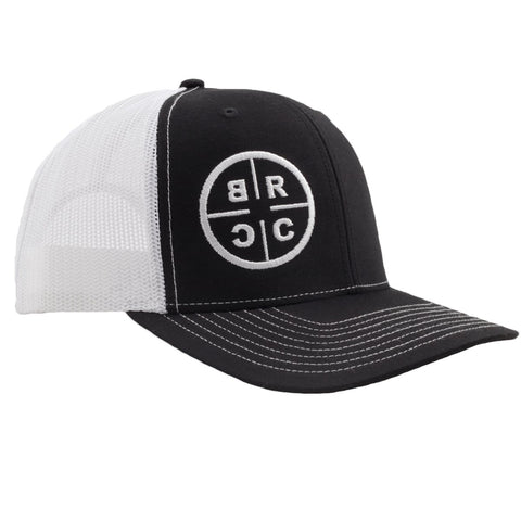 BRCC Trucker Hat - Black with White Mesh