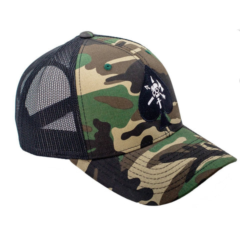BRCC Trucker Hat - CAF Spade with Black Mesh