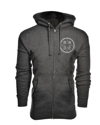 BRCC Canada Zip-Up Hoodie (Midweight) - Dark Gray