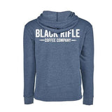 Mountain logo lightweight pullover hoodie back