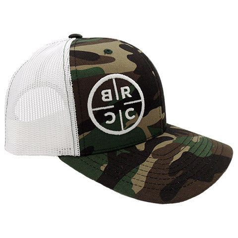 BRCC Trucker Hat - Camo with White mesh