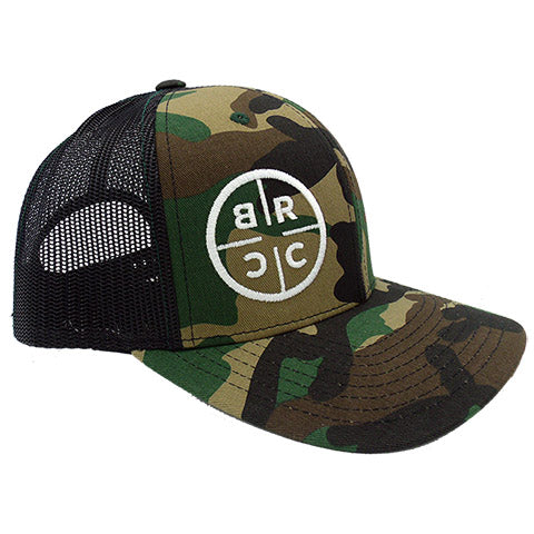 BRCC Trucker Hat - Camo with Black mesh