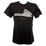 Chainsaw Logo Shirt - Solid Black Triblend