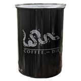 """Coffee, or Die"" Airtight Container - White Logo"