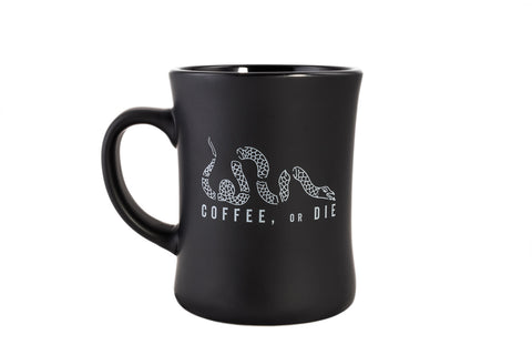 Coffee, or Die Ceramic Echo Mug