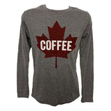 Maple Leaf Long Sleeve Shirt - Heather Grey