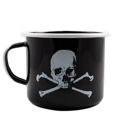 Skull and Bones Enamel Mug
