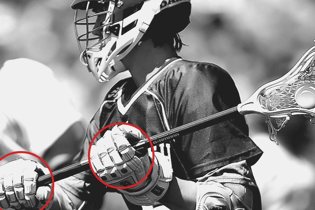 how to hold a lacrosse shaft when throwing