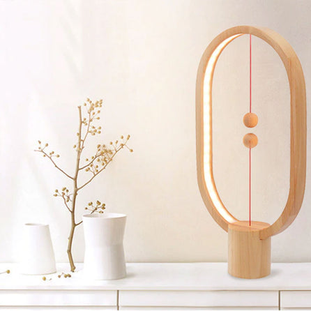 Lampe de table Zen en bois