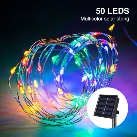 Guirlande lumineuse - multicolore - 50 LED, 5M.