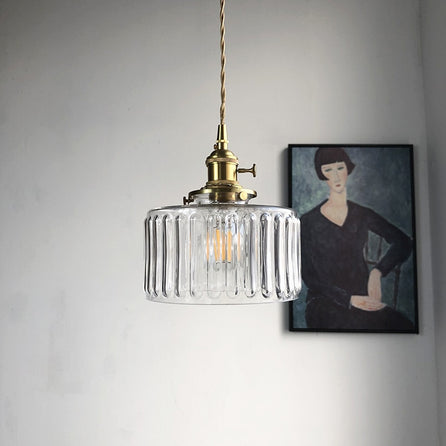 Lampe suspension en verre