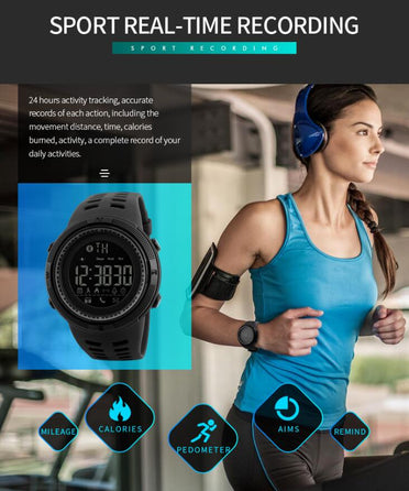 Montre Bluetooth Ronde pour le sport compatible Apple IOS et Android