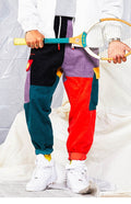 VINTAGE Color Block Harem Pants - COCA