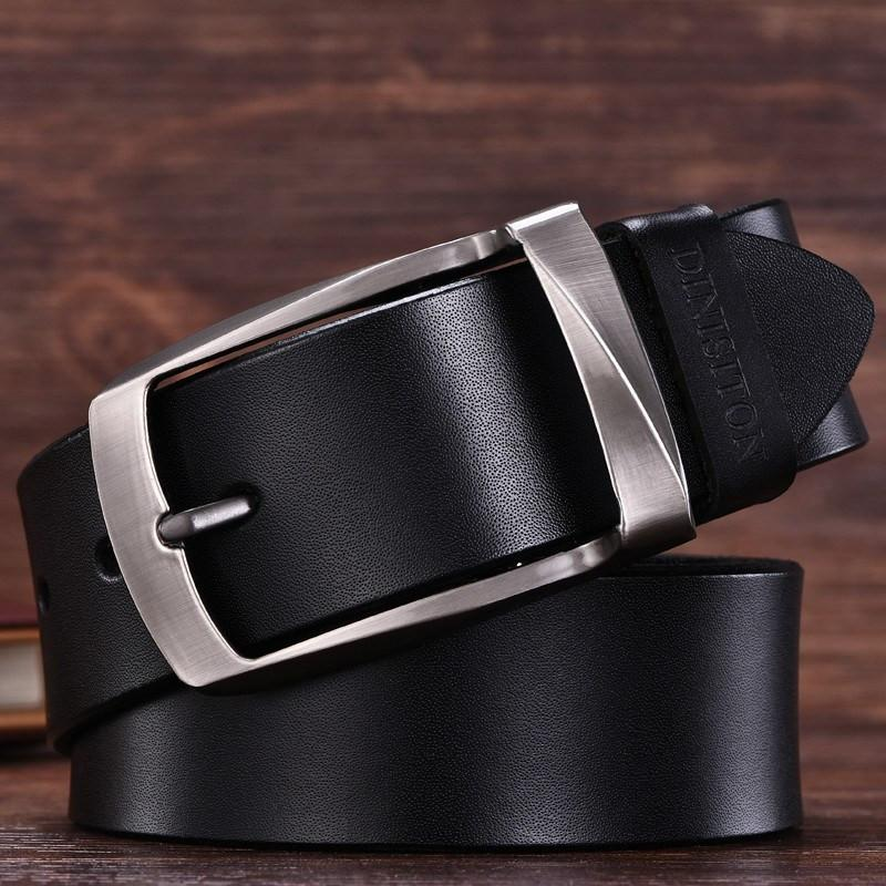 Genuine Cow Leather Belt With Stainless Steel Buckle - COCA