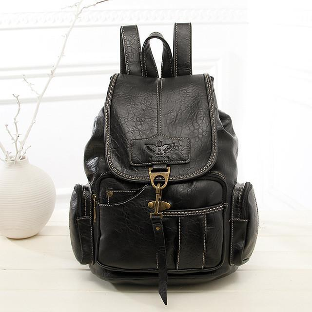 Rugged PU Leather Backpack - COCA