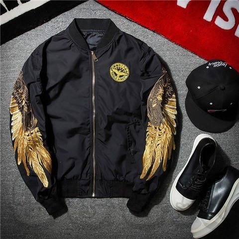 Golden Angel Bomber Jacket - COCA