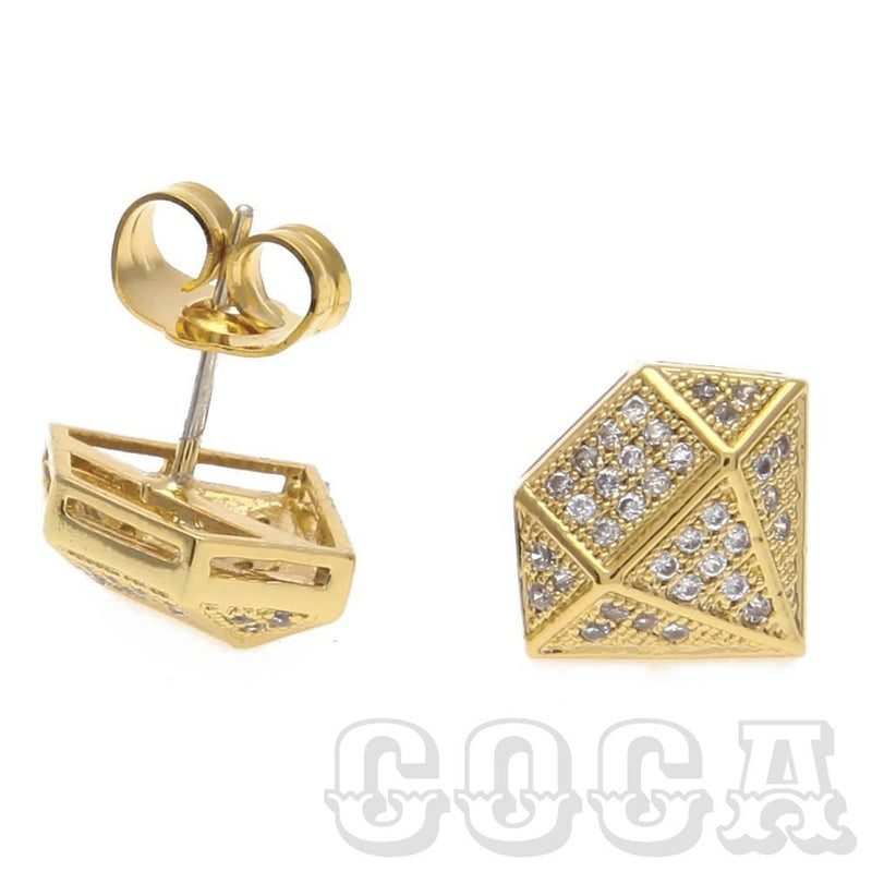 Diamond Shaped CZ Earrings - COCA