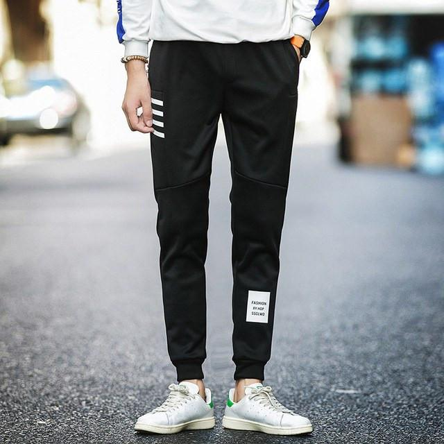 Black Straight Fit Track Pants - COCA