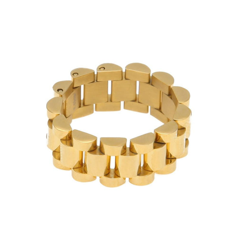 Gold Cylinder Ring - COCA