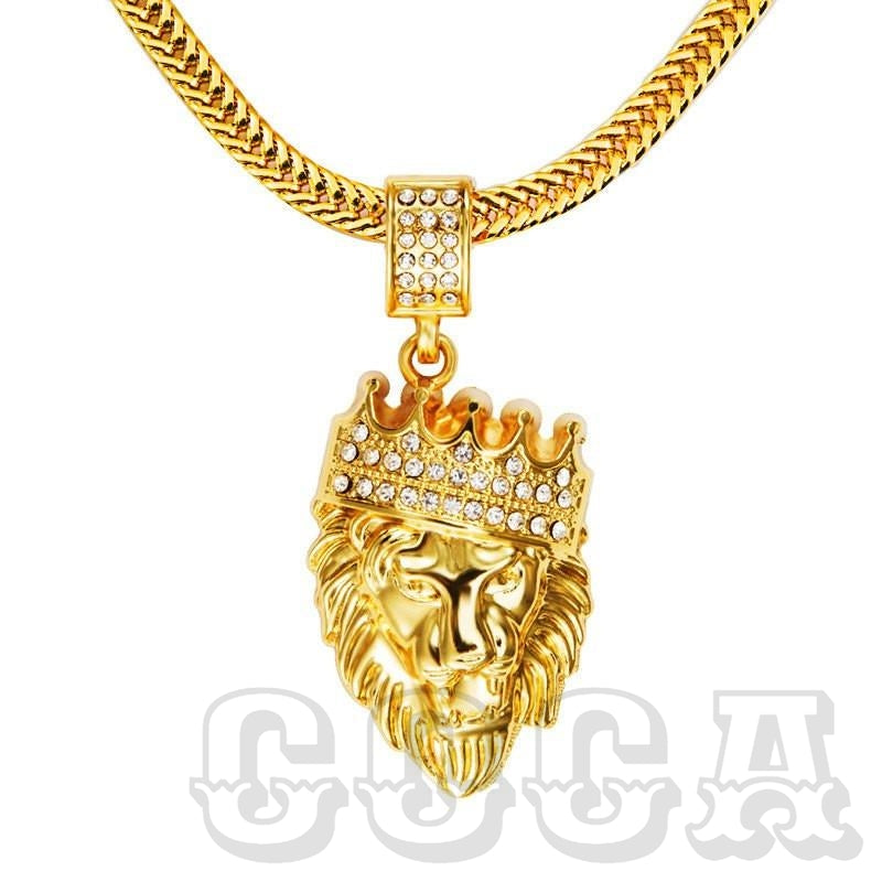 Iced King Lion Pendant - COCA