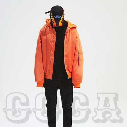 Puffy Oversized Bomber Jacket - COCA