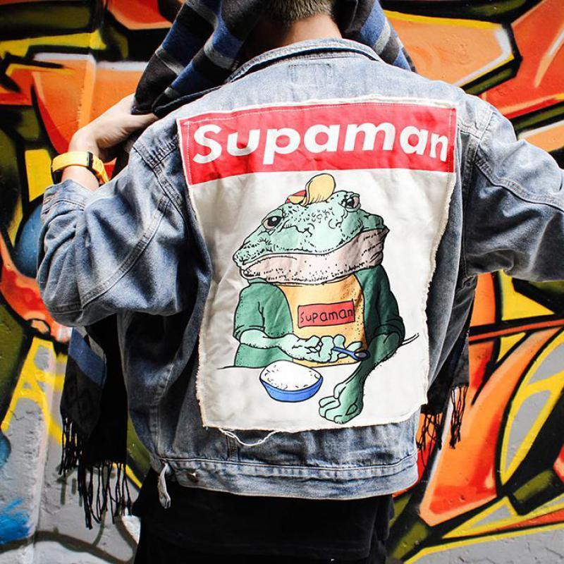 SUPA Frog Vintage Denim Jacket