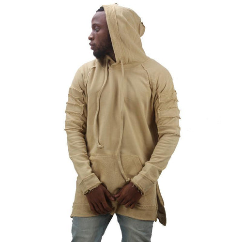 Distressed Pullover Hoodie - COCA