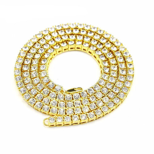 20-30 Inch Iced Out Tennis Chain - COCA