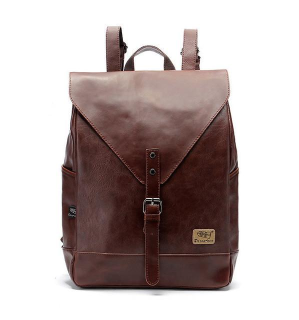 Retro PU Leather Backpack - COCA