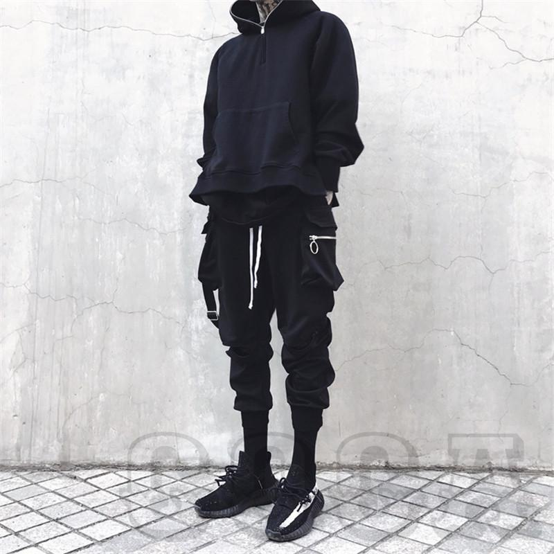 Techwear Elastic Side Zipper Pants