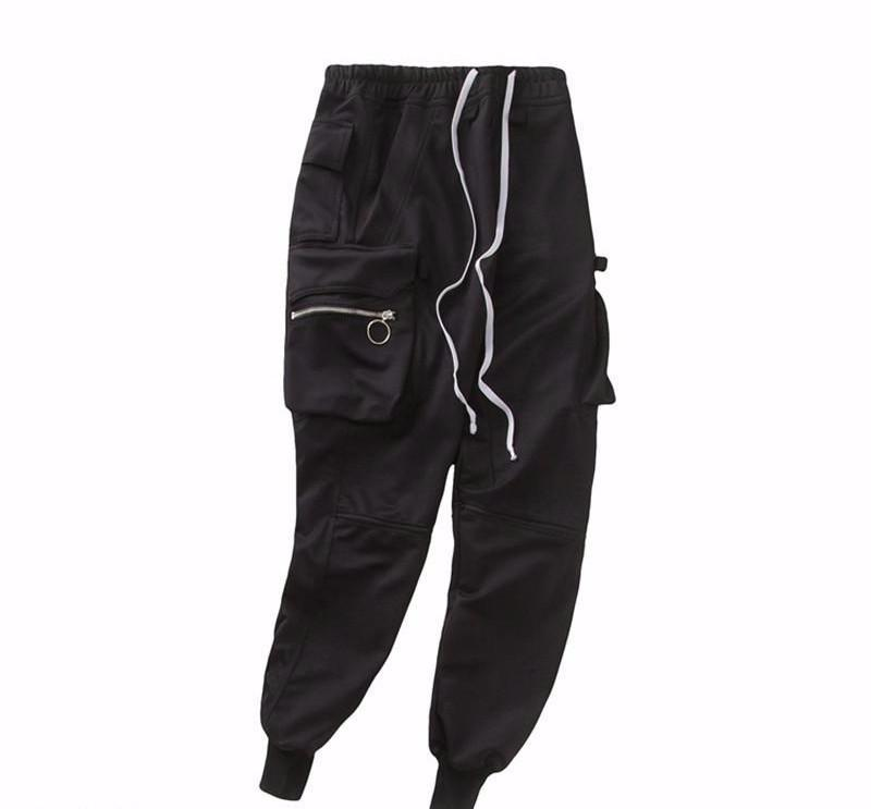Techwear Elastic Side Zipper Pants - COCA
