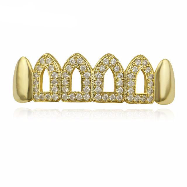 Jagged Open Tooth Bottom Grillz - COCA