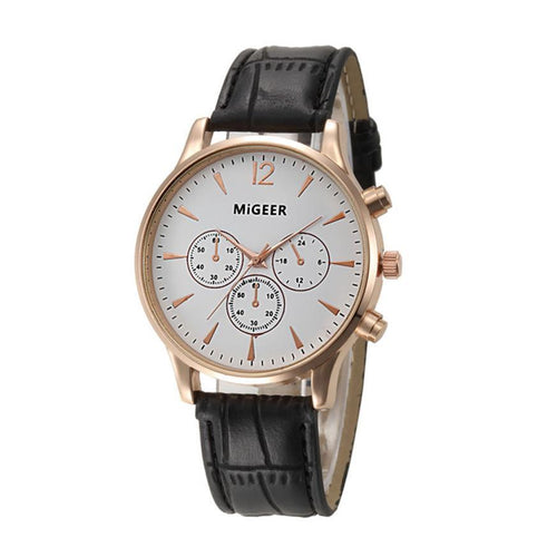 Migeer Leather Quartz Watch - COCA