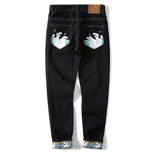 Embroidered New Wave Jeans - COCA