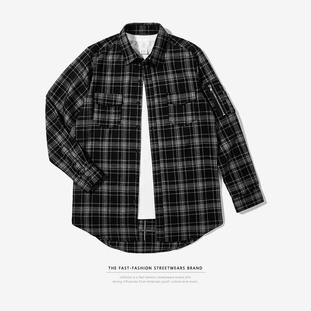 CHECKERED Long Sleeve Shirt - COCA