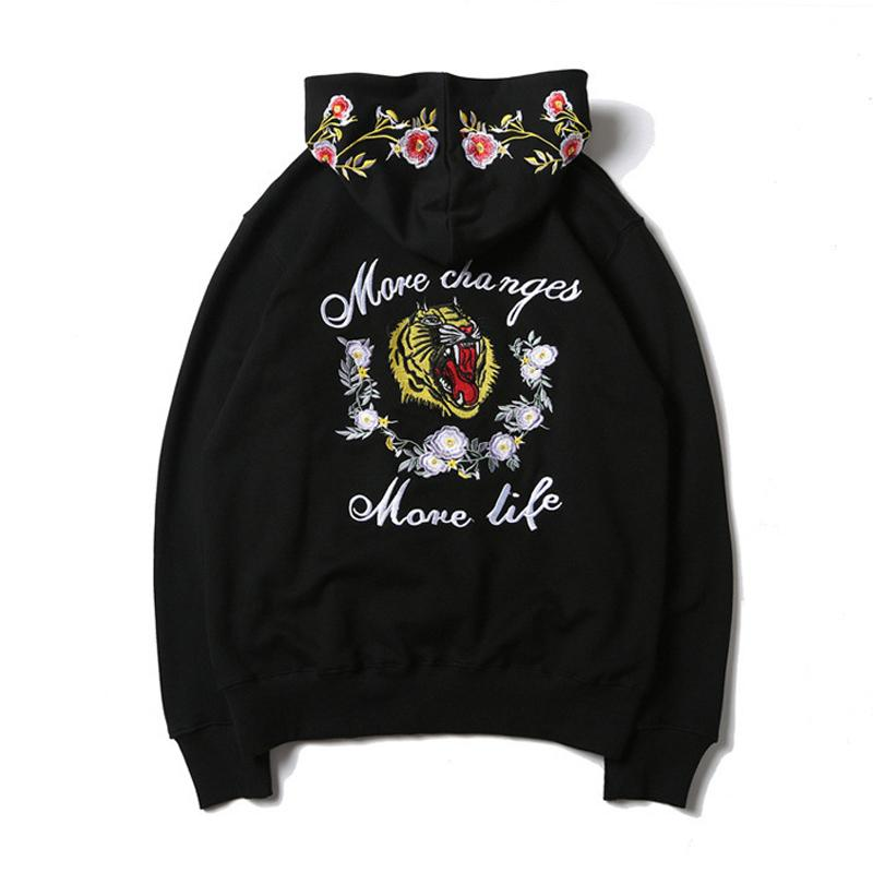 Embroidered Tiger Hoodie - COCA