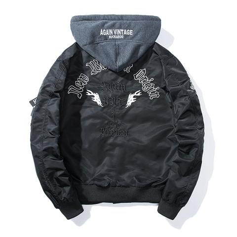 New Wave Hooded Bomber Jacket - COCA