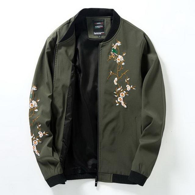 Embroidered Floral Jacket - COCA