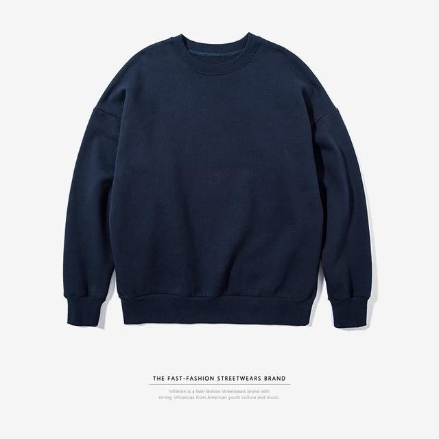 Relaxed Fit Crew Neck Sweater - COCA