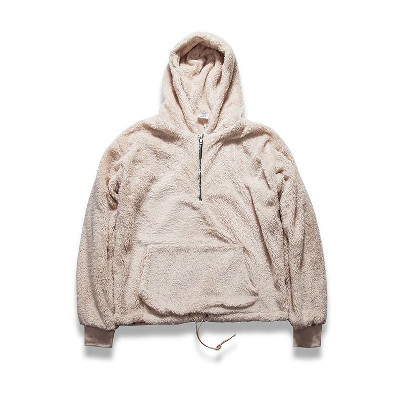 Pullover Sherpa Hoodie - COCA