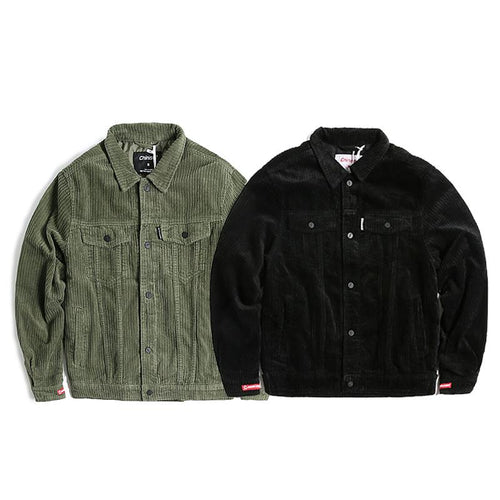 Button Up Corduroy Jacket w/ Embroidery - COCA
